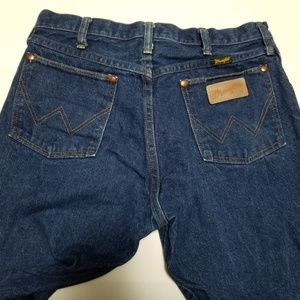 Wrangler Jeans - Wrangler USA Made Cowboy Cut Dark Blue Jeans